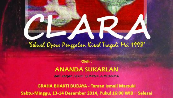 Yuk Saksikan OPERA CLARA 13 &14 Desember 2014