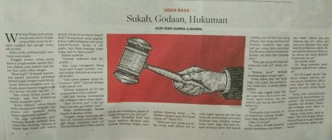 Sukab Godaan, Hukuman Kompas 19 Juni 2016